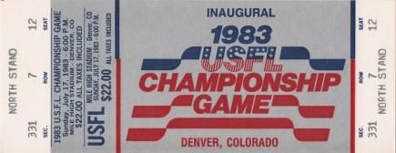 Birminghamprosports 1983 usfl championship game michigan panthers vs philadelphia stars 07171983 unused sciox Gallery